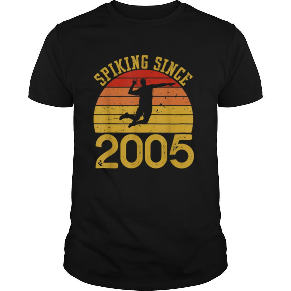 Vintage Volleyball 15th Birthday Spiking Since 2005 shirt Classic Men's