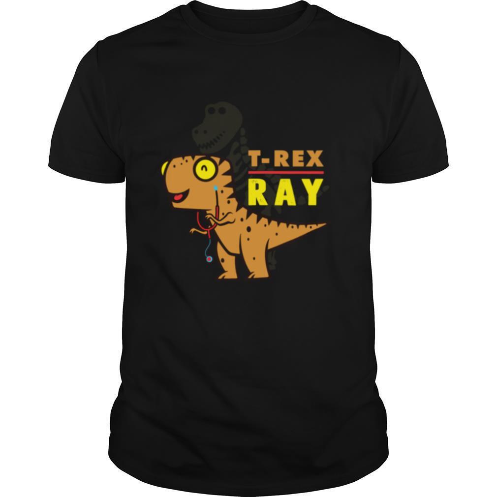 XRay Tech TRex Dinosaur Radiology Tech Cartoon shirt Classic Men's