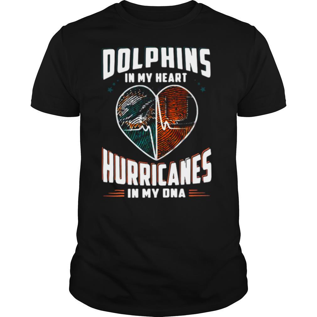 Dolphins In My Heart Hurricanes In My DNA shirt Classic Men's