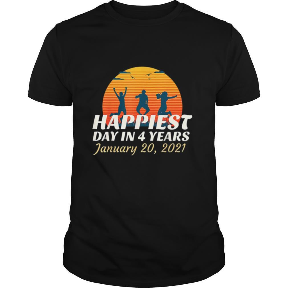 Happiest day in 4 years Biden Harris inauguration vintage shirt Classic Men's