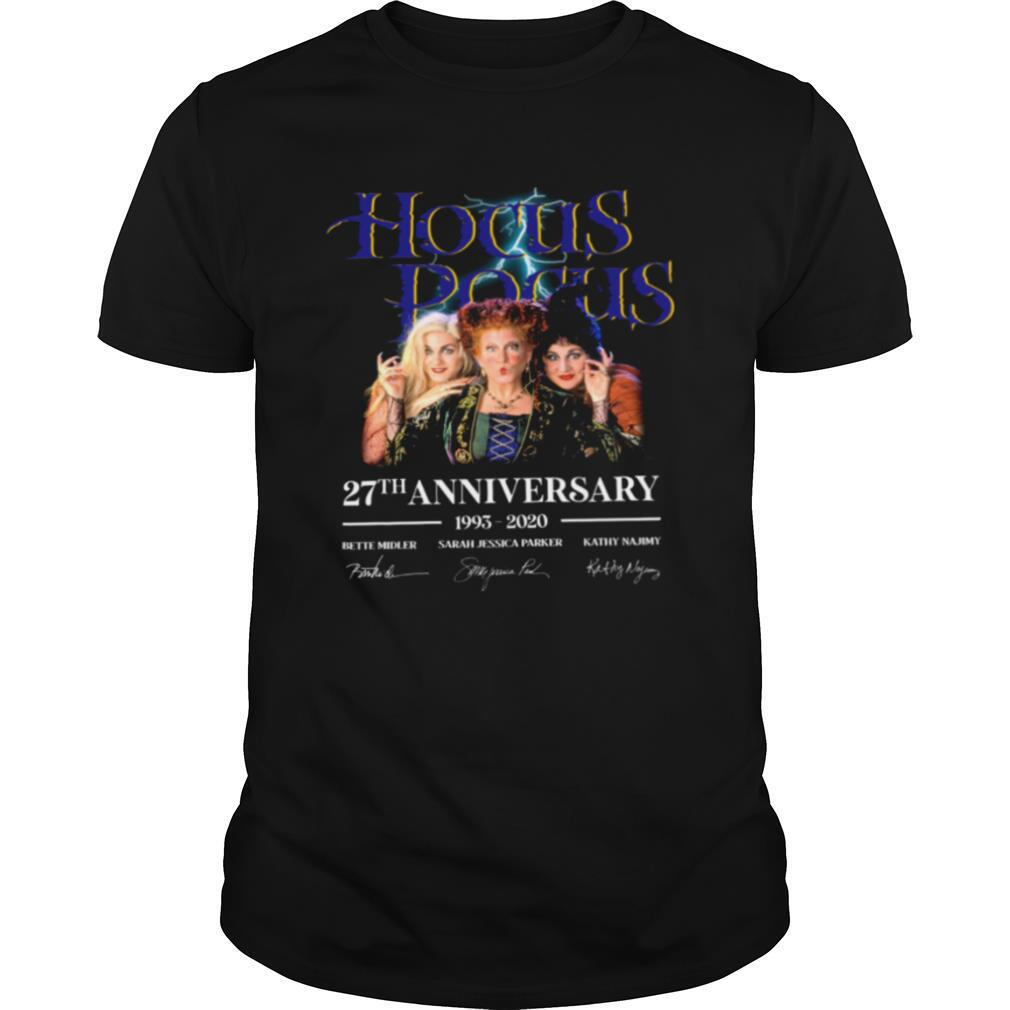 Hocus Pocus 27th Anniversary 1993 2020 Bette Midler Sarah Jessica Parker Kathy Najimy shirt Classic Men's