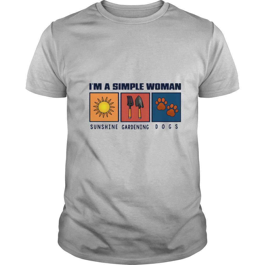 I'm A Simple Woman Sunshine Gardening Dogs shirt Classic Men's