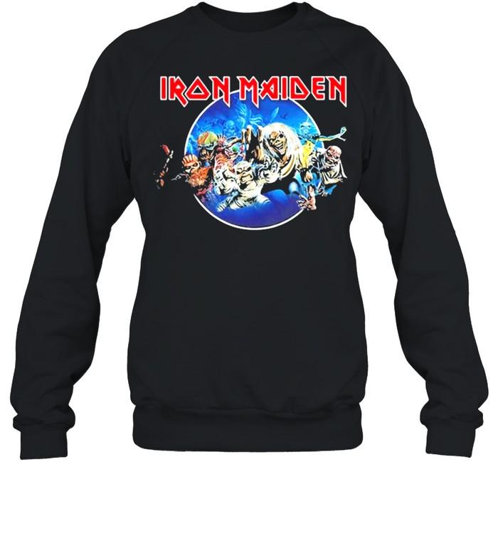 Iron Maiden 'Wasted Years Circle' shirt Unisex Sweatshirt