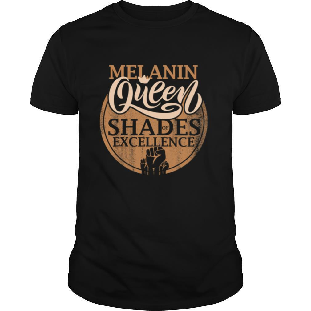 Melanin Queen Shades Of Excellence Strong Black Woman Fist shirt Classic Men's