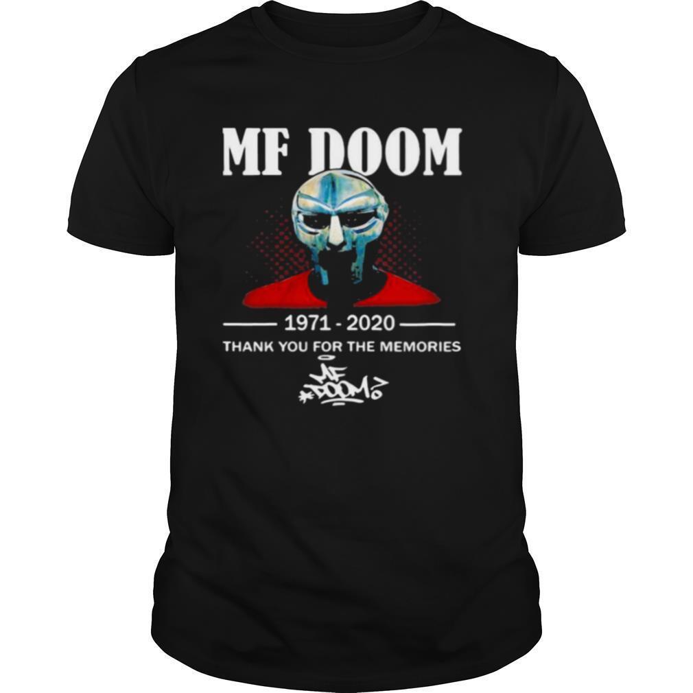 Mf Doom 1971 2020 Thank You For The Memories Signature shirt Classic Men's
