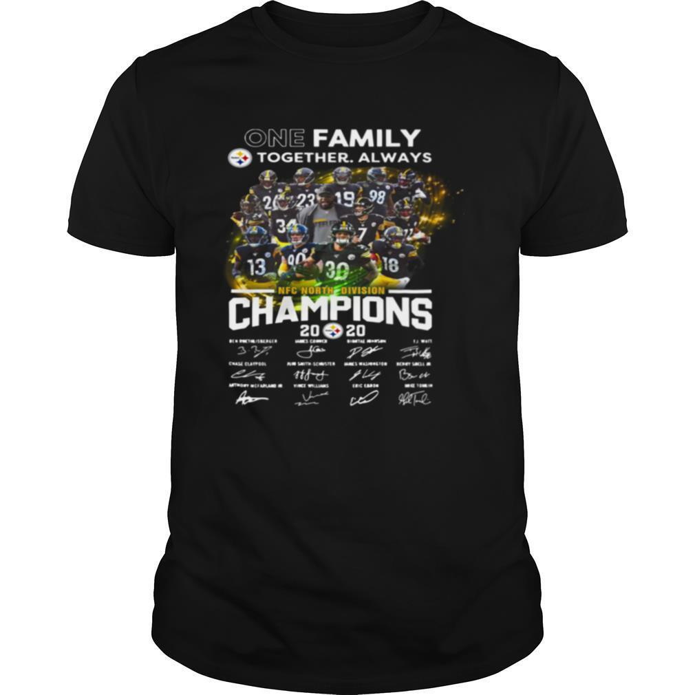 One Family Pittsburgh Steelers Together Always Nfc North Division Champions Signatures shirt Classic Men's