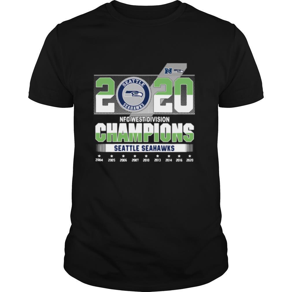 Seattle Seahawks 2020 NFC west division Champions 2004 2020 shirt Classic Men's