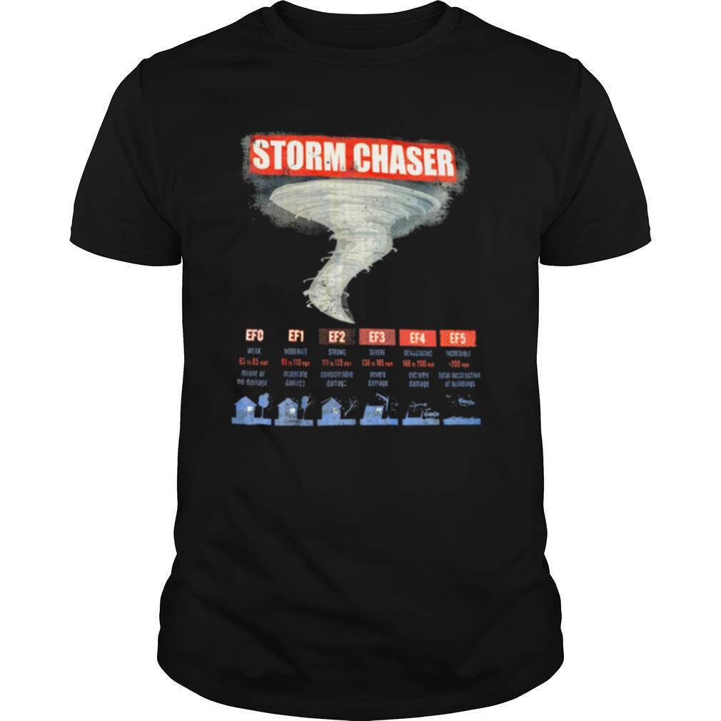 Storm Chaser EFO EF1 EF2 EF3 EF4 EF5 shirt Classic Men's