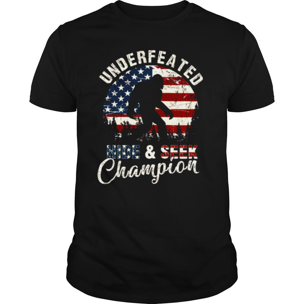 Undefeated Hide And Seek Champions Vintage American Flag shirt Classic Men's