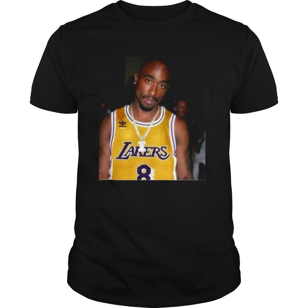 08 Rapper Tupac Shakur Los Angeles Lakers shirt Classic Men's