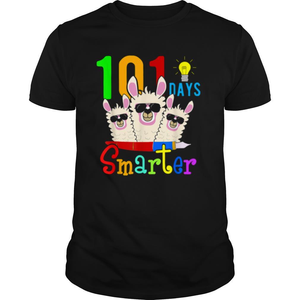 101 Days Smarter Teacher Llama Happy 100th Day Of School shirt Classic Men's