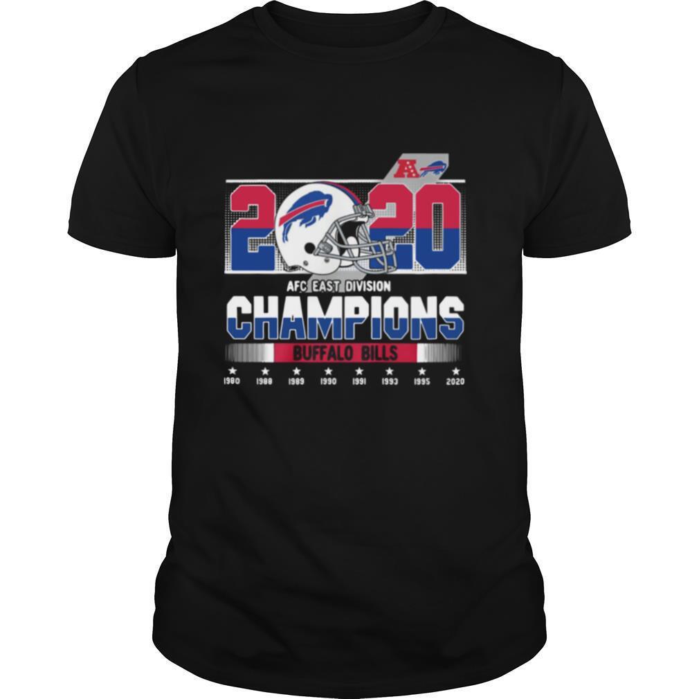 2020 Afc East Division Champions Buffalo Bills 1980 1988 1989 1990 shirt Classic Men's
