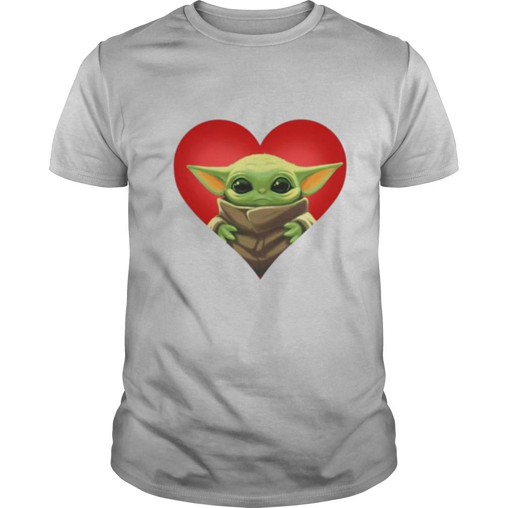 Baby yoda heart shirt Classic Men's