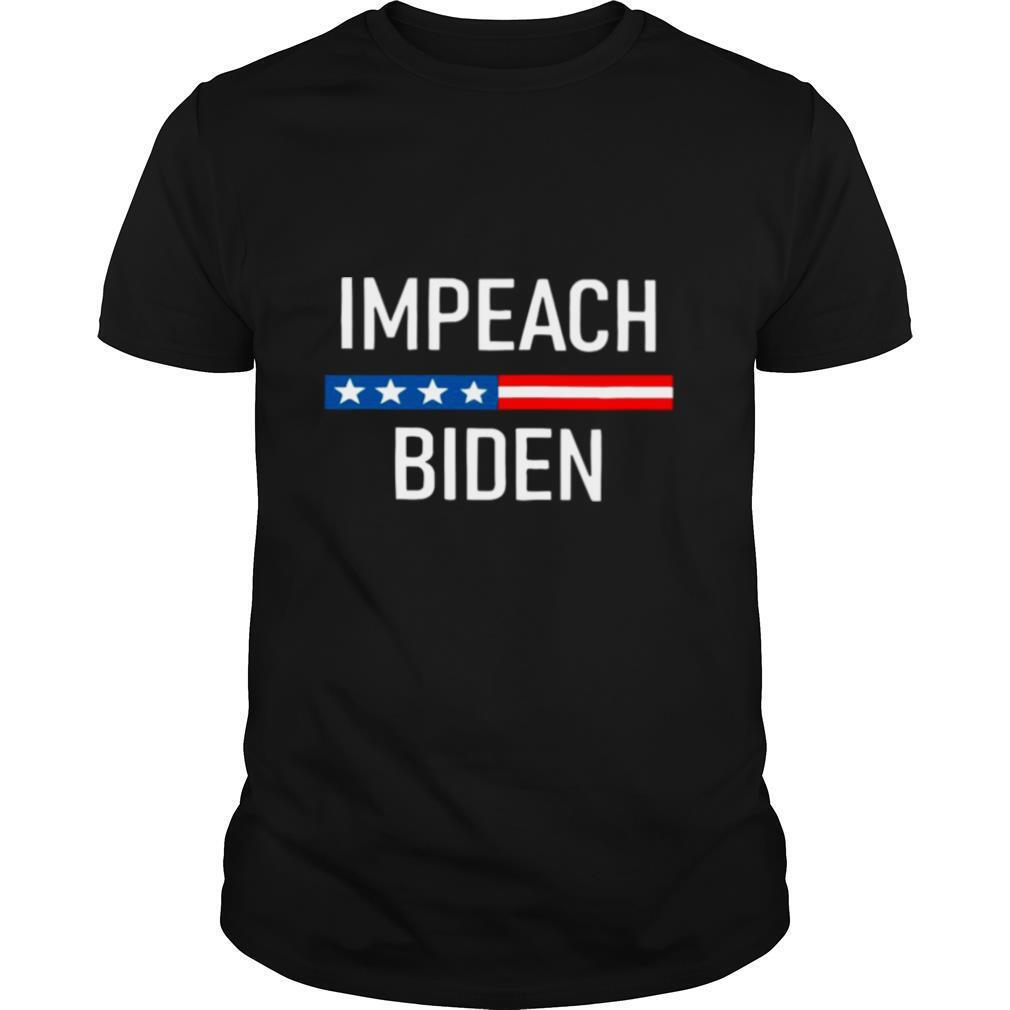 Impeach Joe Biden 2020 American Flag shirt Classic Men's