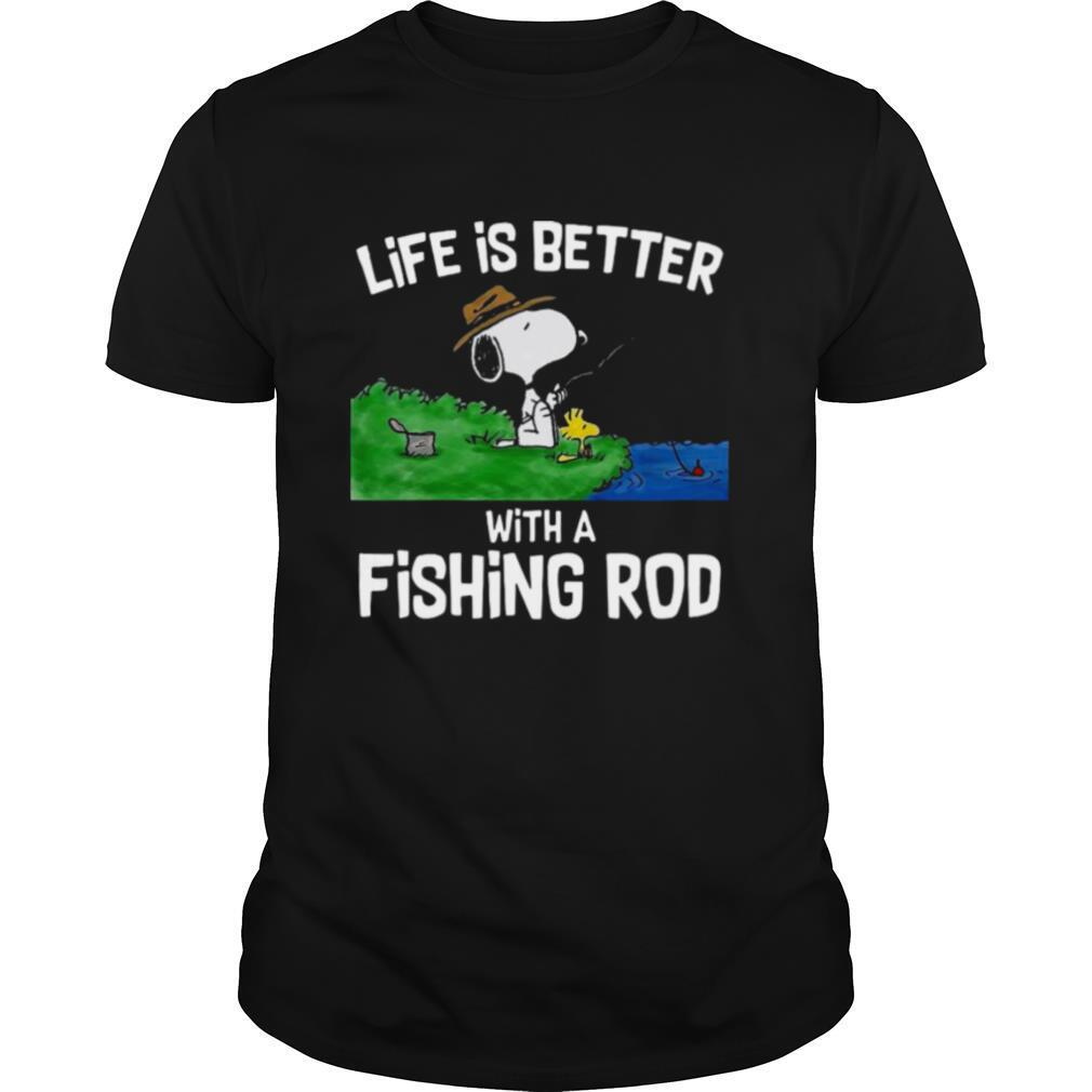 Life Is Better With A Fishing Rod shirt Classic Men's