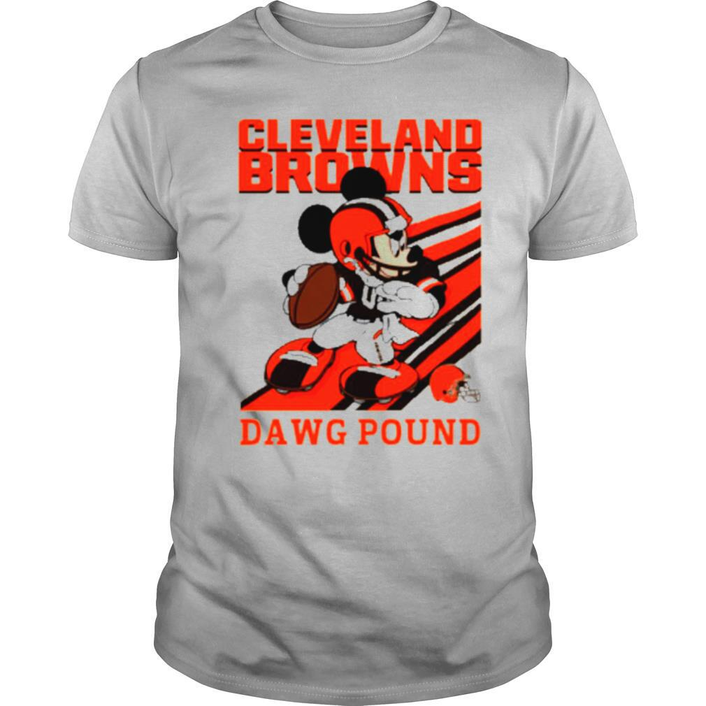 Mickey mouse cleveland browns dawg pound shirt Classic Men's
