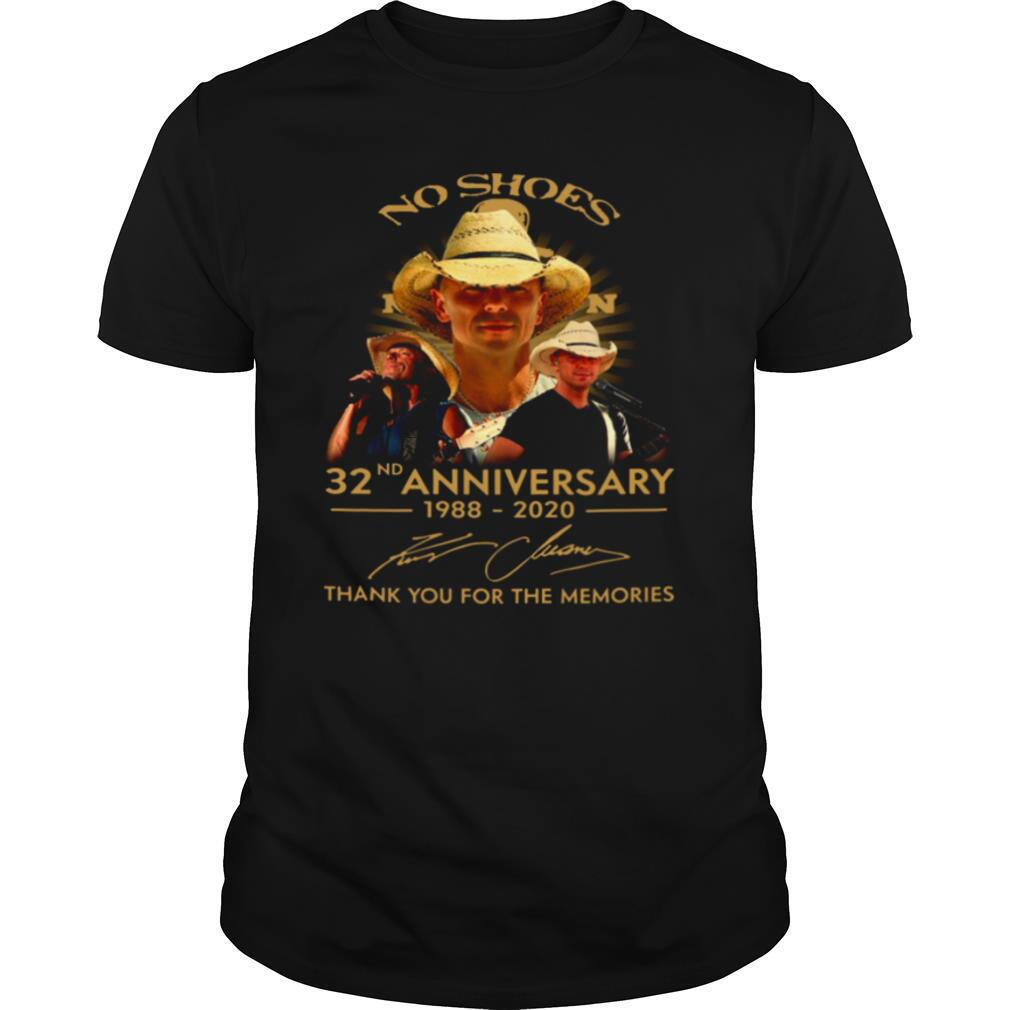 No Shoes 32nd Anniversary 1988 2020 Thank You For The Memories shirt Classic Men's