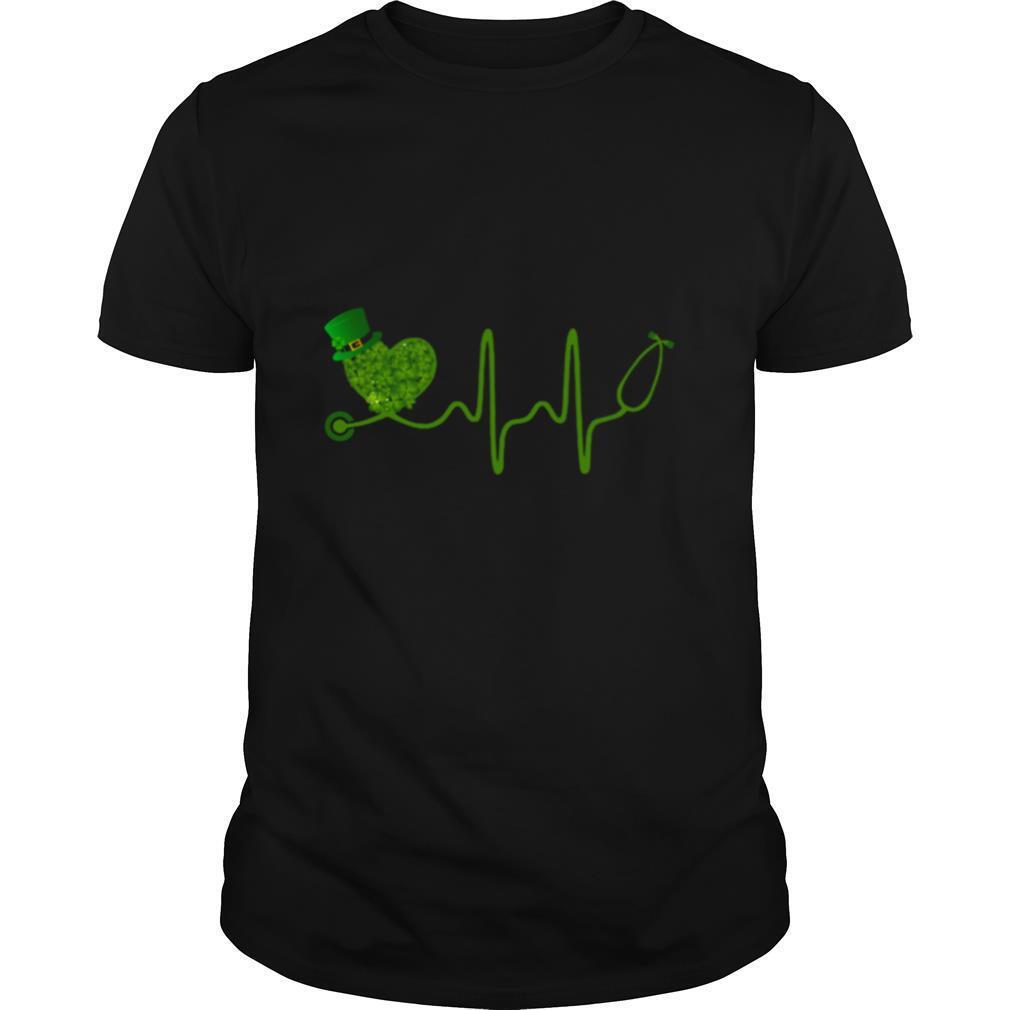 Nurse Stethoscope Shamrock Matching St Patricks Day shirt Classic Men's