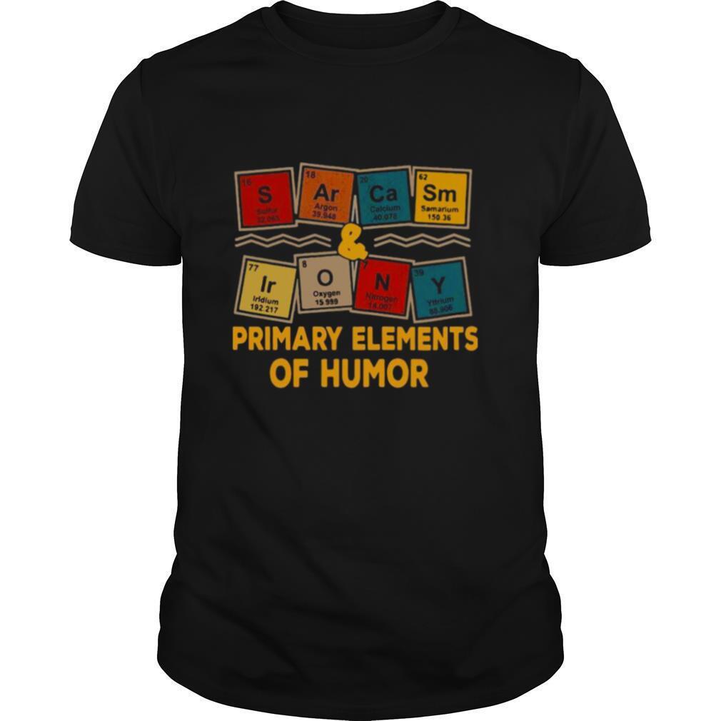 Sarcasm Irony Primary Elements shirt Classic Men's