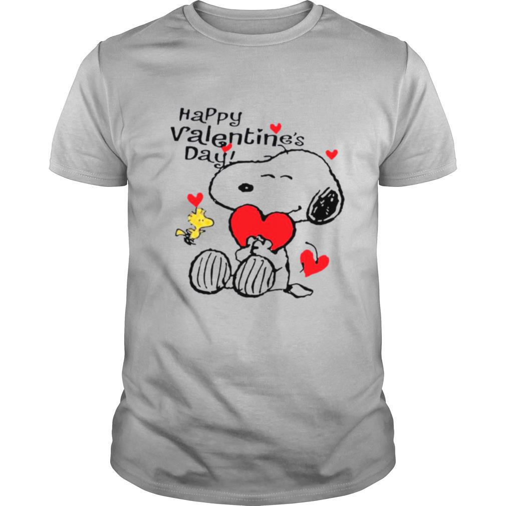 Snoopy Hug Heart And Woodstock Happy Valentines Day shirt Classic Men's