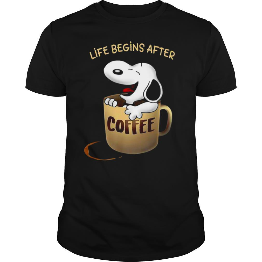 Snoopy Life Begins After Coffee shirt Classic Men's