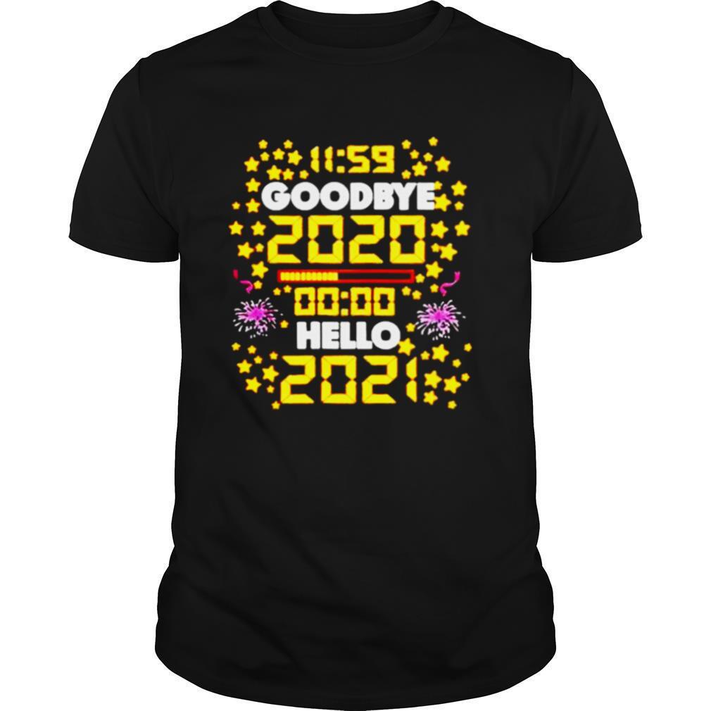 11 59 Goodbye 2020 00 00 Hello 2021 Happy New Year shirt Classic Men's