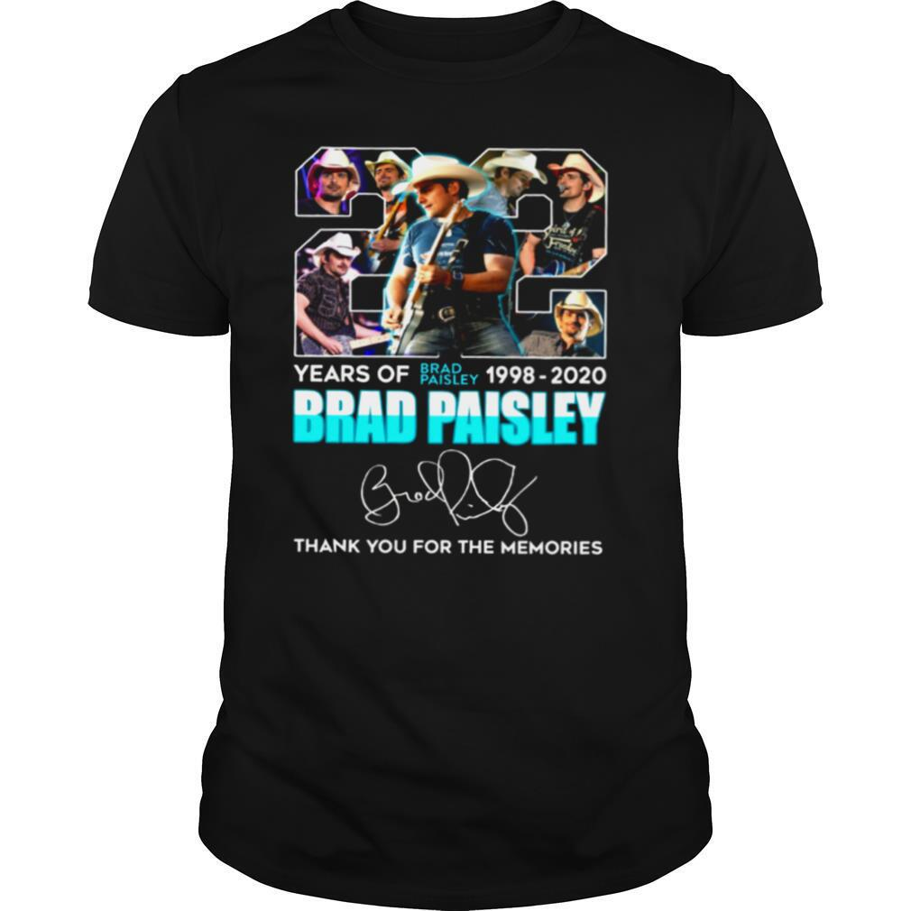 22 Years Of Brad Paisley 1998 2020 Brad Paisley Thank You For The Memories shirt Classic Men's