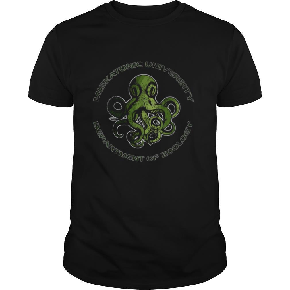 Cthulhu Lovecraft Miskatonic University Department Of Zoology shirt Classic Men's