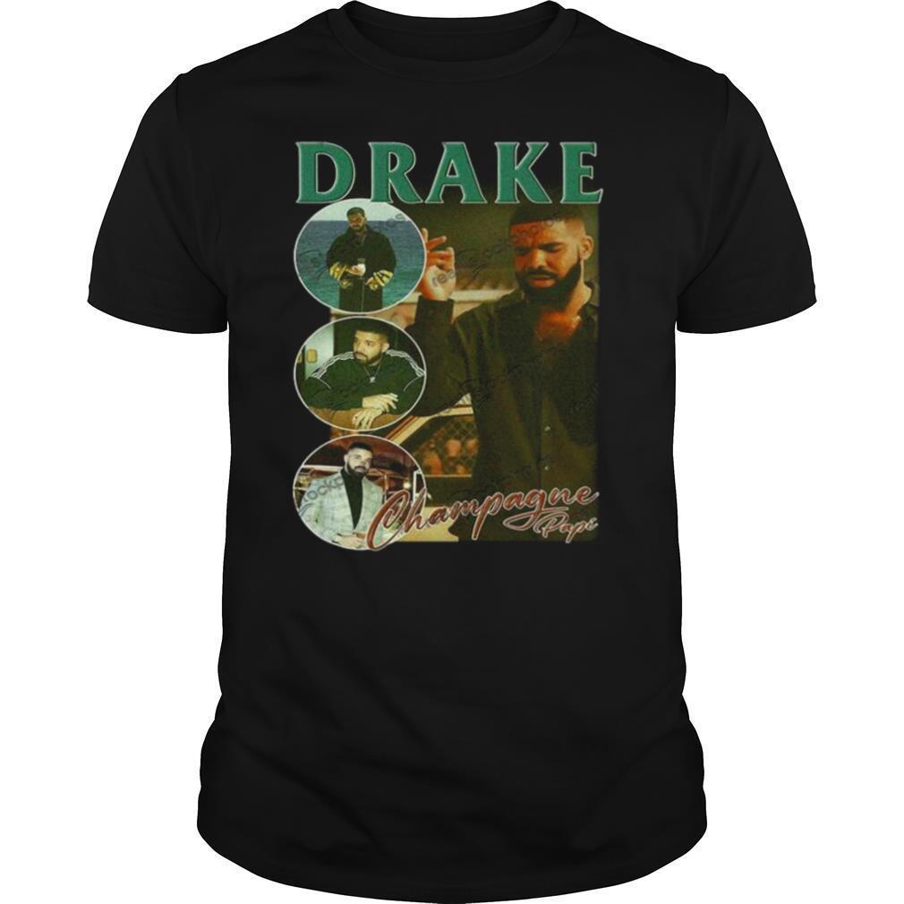 DRAKE champagne Life Hip Hop Rap Vintage Retro 90s shirt Classic Men's