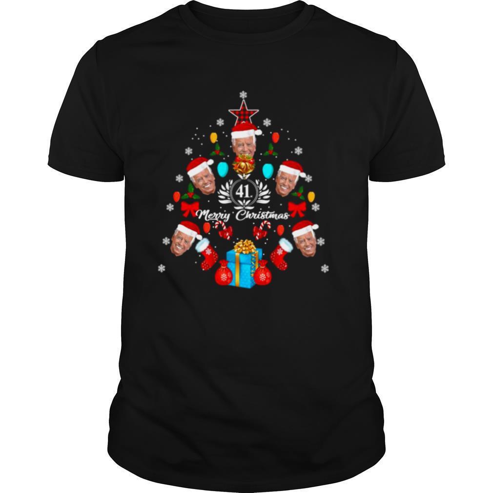 Joe Biden Christmas Tree 41th Merry Christmas shirt Classic Men's