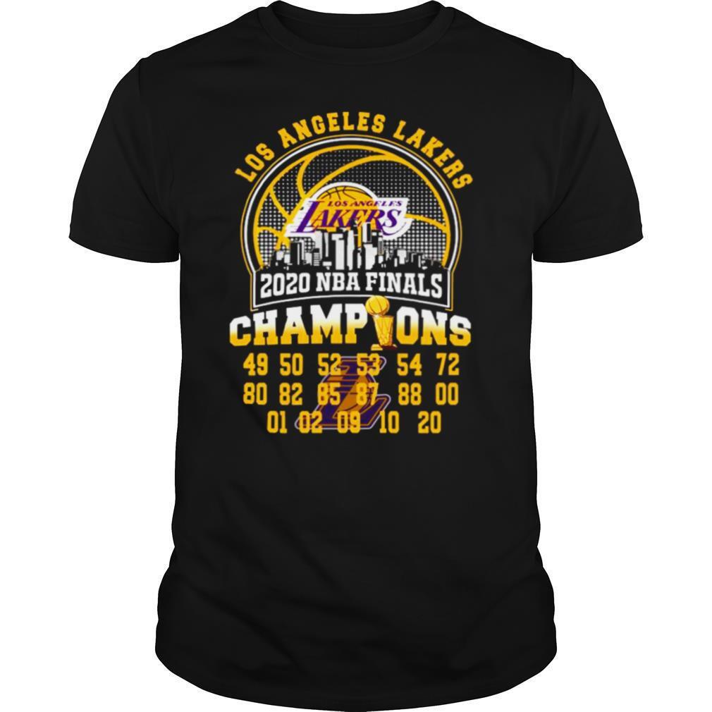 Los Angeles Lakers 2020 Nba Finals Champions 49 50 52 53 54 72 shirt Classic Men's