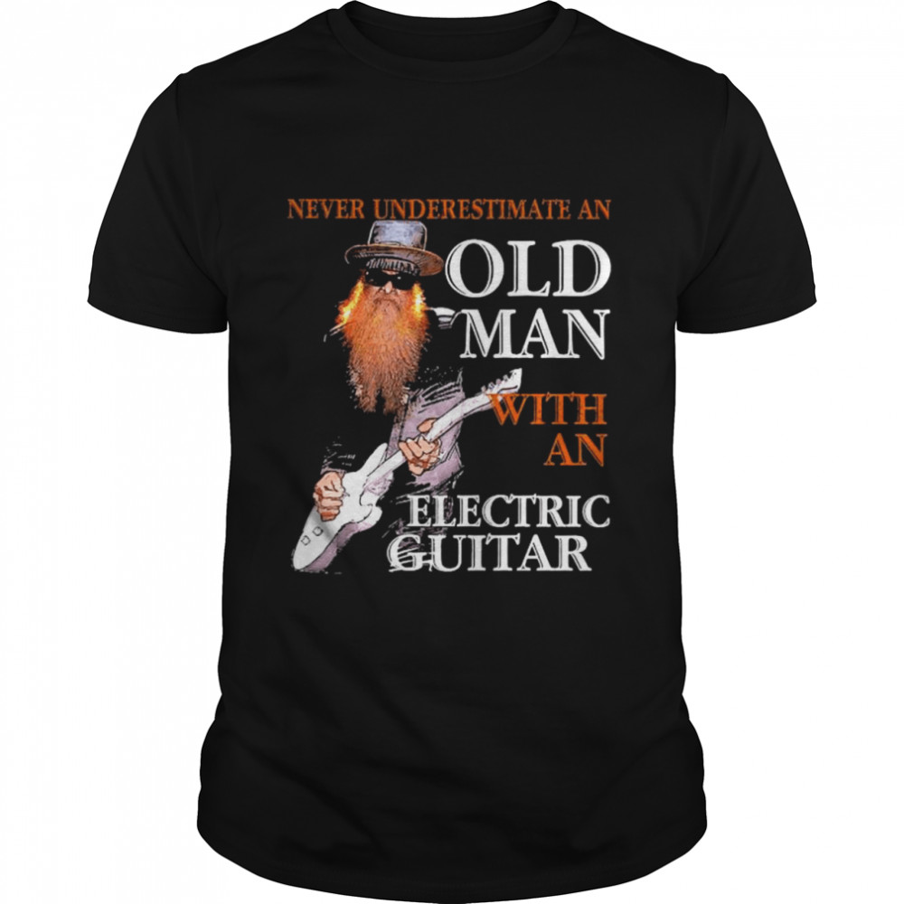 Never Underestimate An Old Man With An Electric Guitar shirt Classic Men's