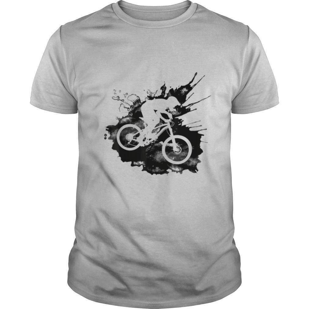 Riding Downhill Over Splash for Cyclists shirt Classic Men's