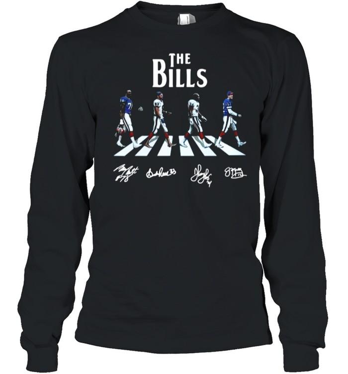 The Bills Smith Reed Thomas And Kelly Abbey Road 2021 Signatures shirt Long Sleeved T-shirt