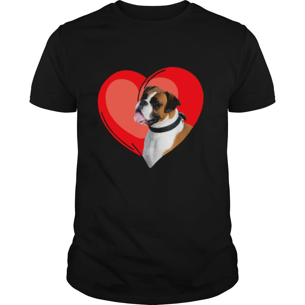 Boxer Dog Valentine Heart For Puppy And Animals shirt Classic Men's