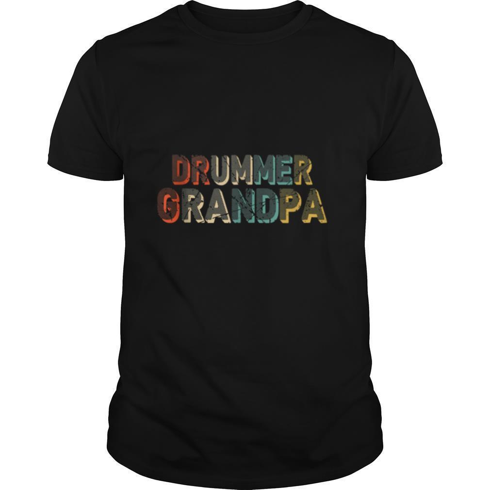 Grandpa Drum Set Drumsticks Vintage shirt Classic Men's