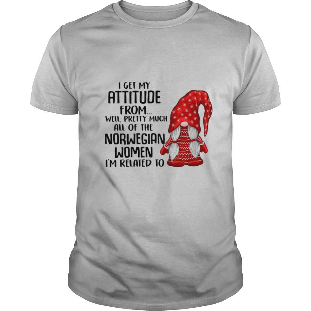 I Get My Attitude From Well Pretty Much All Of The Norwegian Ugly Christmas Women I'm Related To Gnome shirt Classic Men's