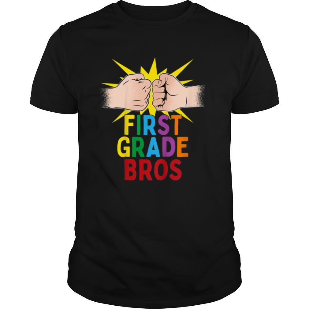 Kids First Day Of School 2020 FIRST GRADE BROS Friends Group T shirt Classic Men's