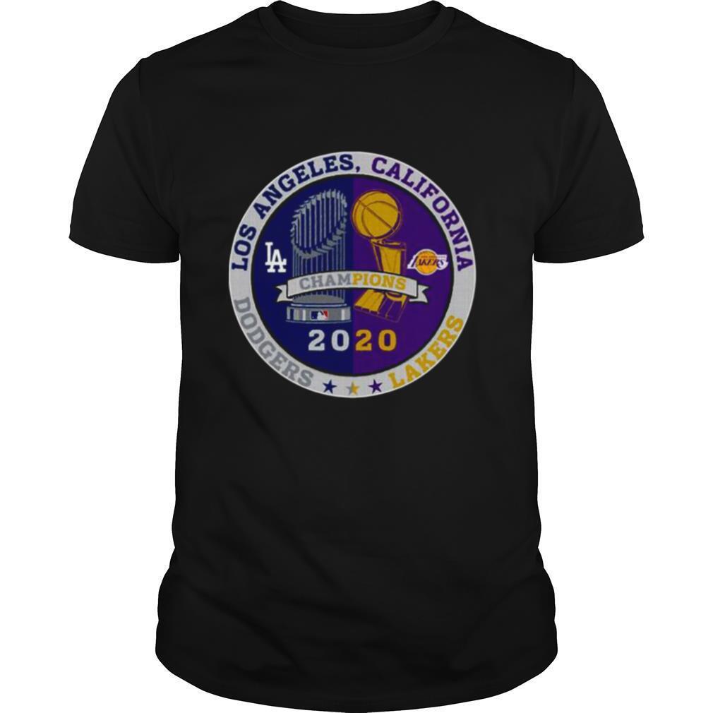 Los Angeles California Los Angeles Dodgers Lakers Champions 2020 shirt Classic Men's