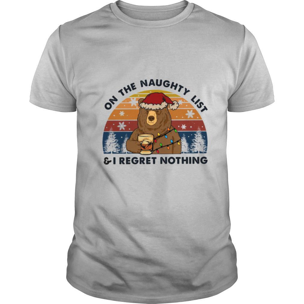On The Naughty List I Regret Nothing shirt Classic Men's