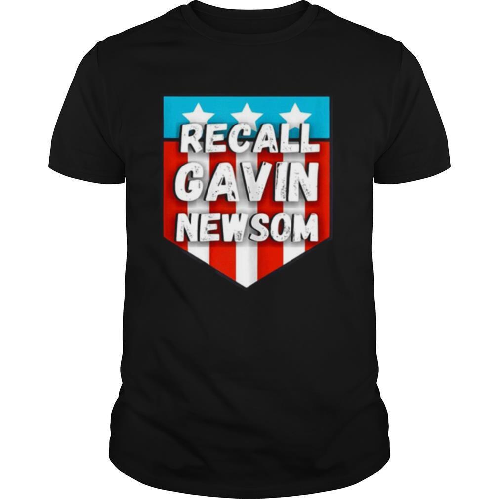 Recall gavin newsom American flag shirt Classic Men's
