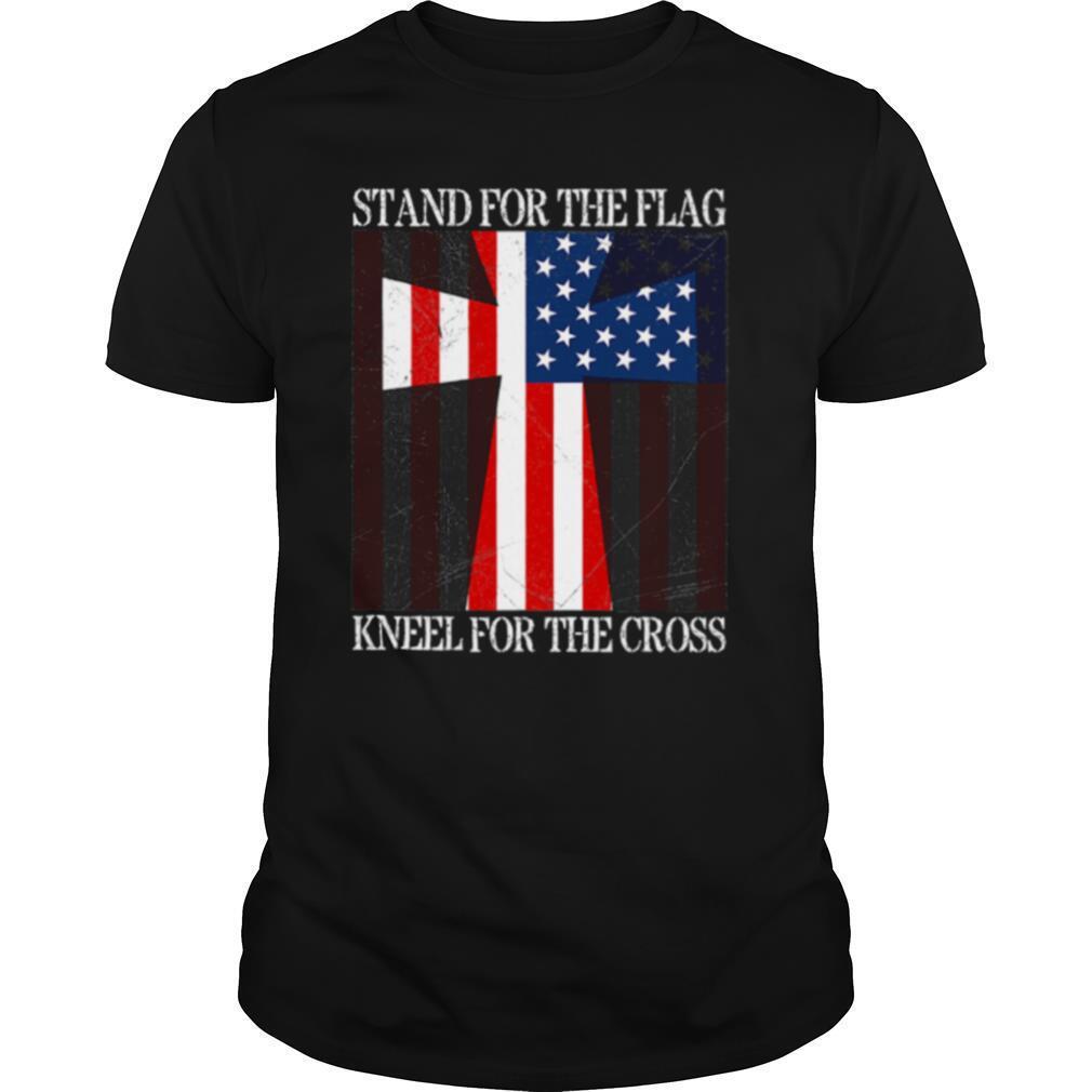 Stand For The Flag Kneel For The Cross Veterans Us Flag shirt Classic Men's