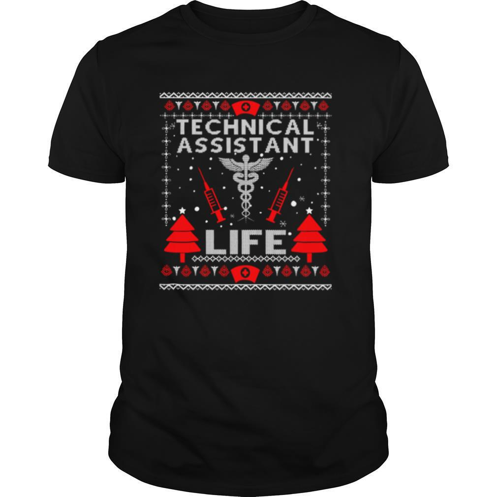 Teaching Assistant Life Cute Gift Ugly Christmas Medical shirt Classic Men's