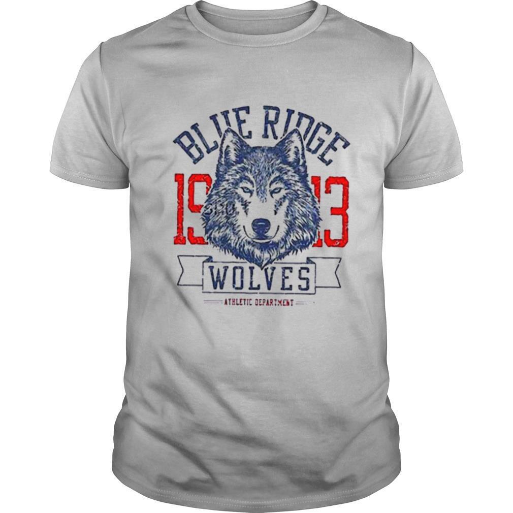 Blue Ridge 1913 Wolves Athletic Department shirt Classic Men's
