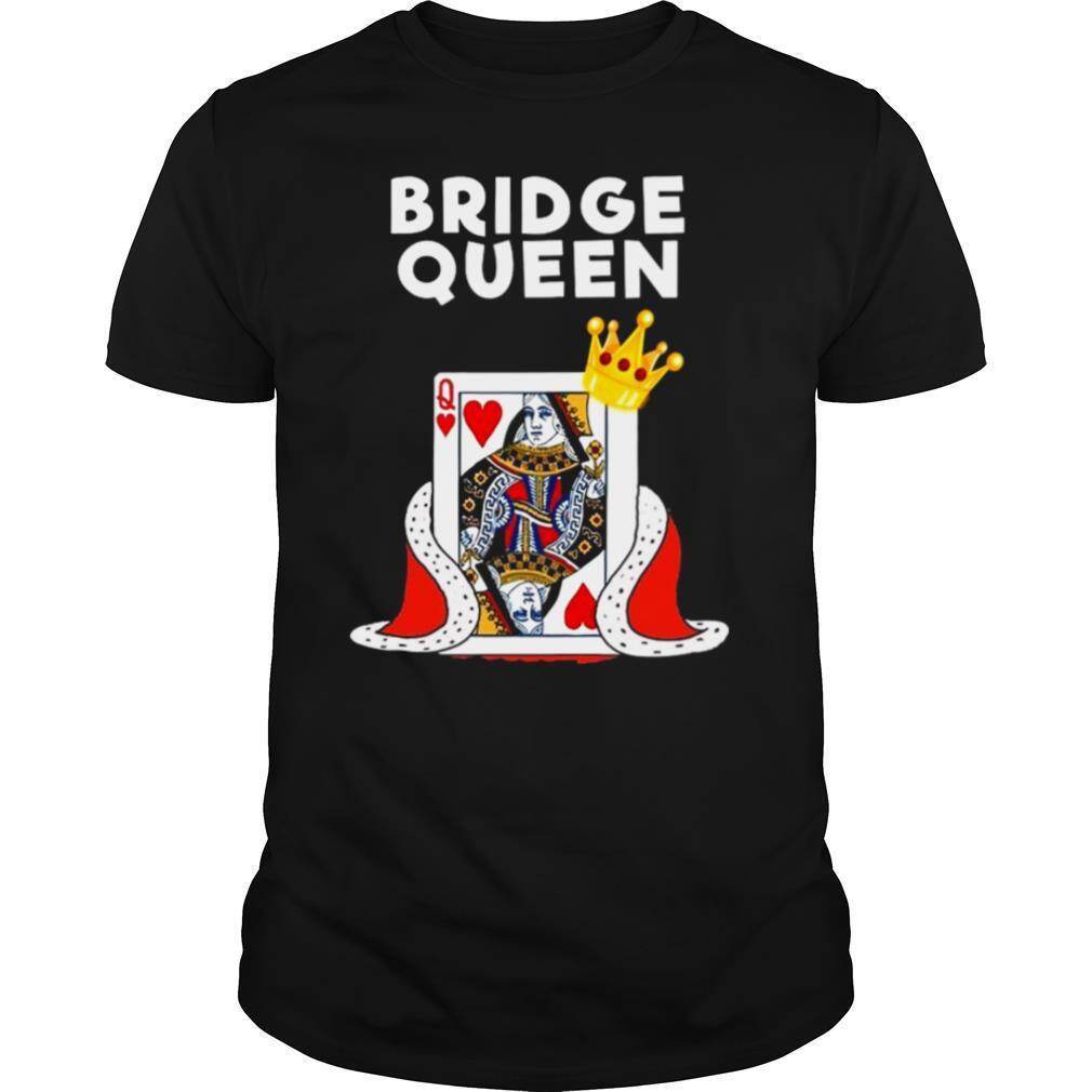 Bridge Card Game Queen shirt Classic Men's