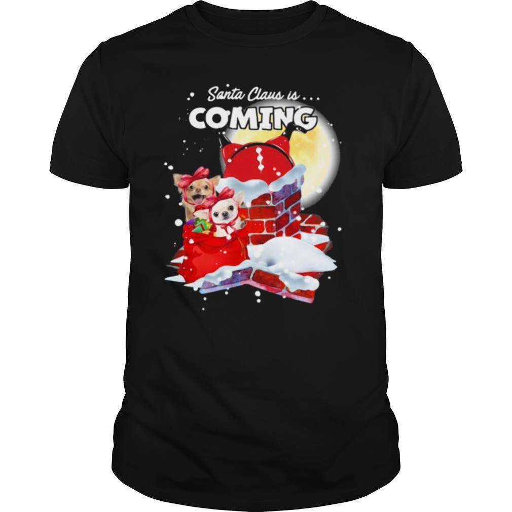 Chihuahua Santa Is Coming Merry Christmas shirt Classic Men's