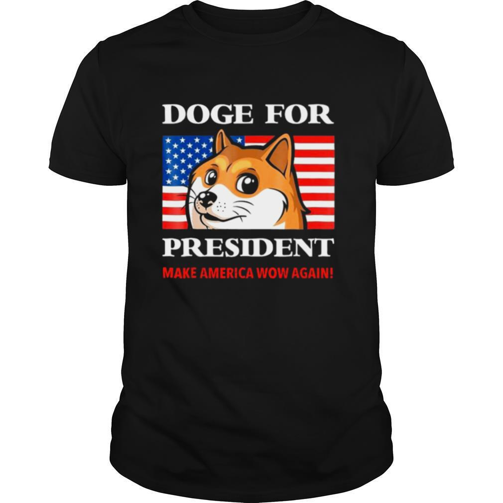 Doge For President Doge Meme Cute Puppy Make America Snow Again shirt Classic Men's