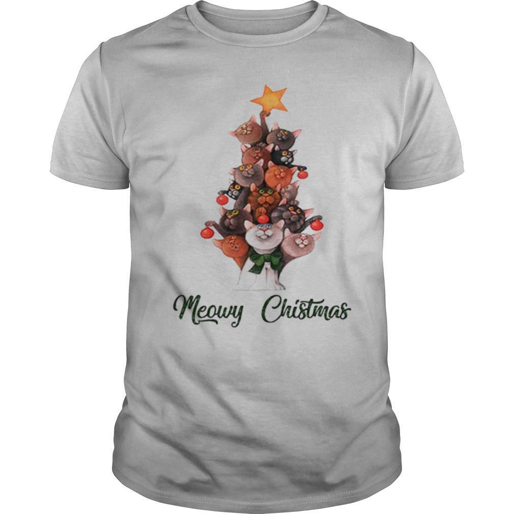 Meowy Christmas Cats Tree shirt Classic Men's