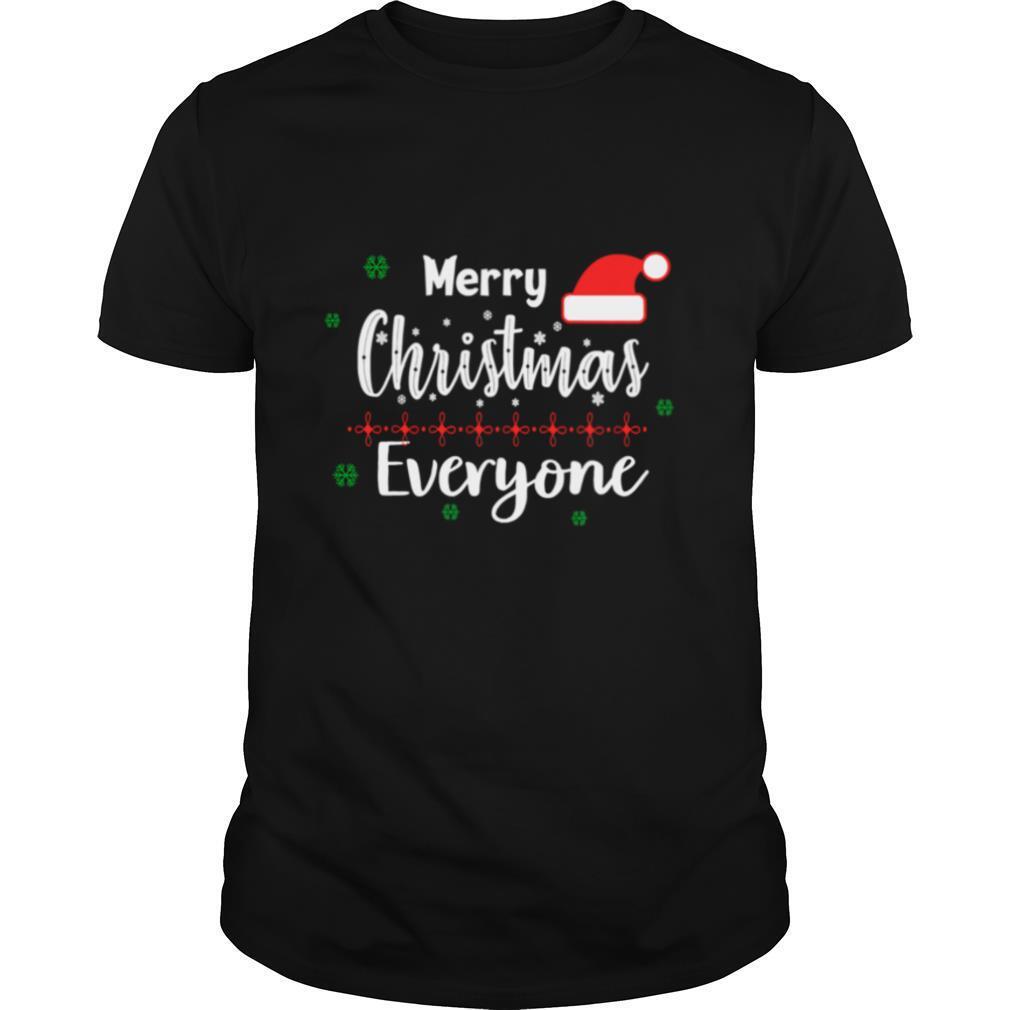Merry Christmas Everyone Hat Santa shirt Classic Men's