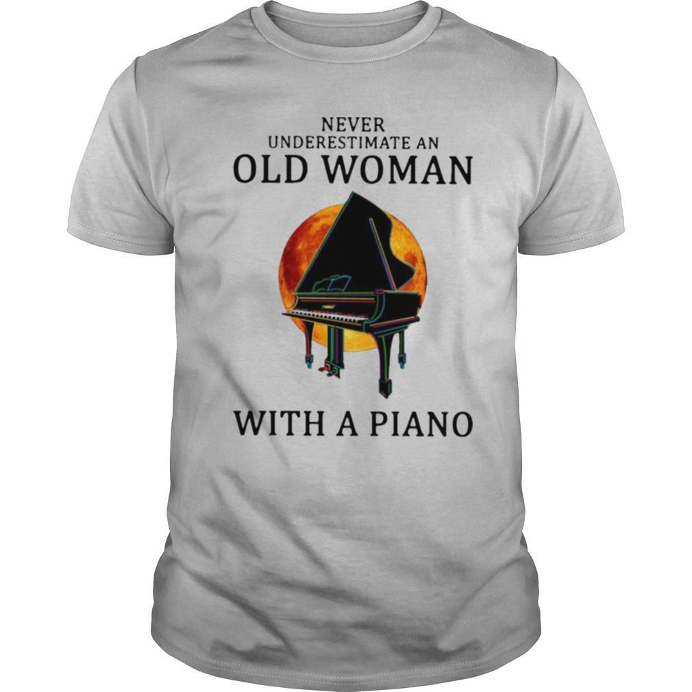 Never Underestimate An Old Woman With A Piano shirt Classic Men's